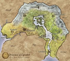 Map of Cyrodiil- I like the typography