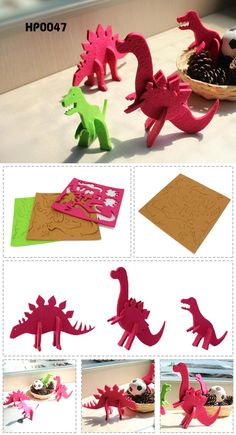 Kids Felt 3D Dinosaur Puzzle  Product Measurements: 27.8*27.8CM  Material: Eco-friendly 5mm thicknessfelt     Feature:   Eco-friendly felt with multi-color choice   3D design as well as desktop decor    light weight and durable    Custom logo:acceptable www.ideagroupigm.com