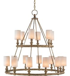 Currey & Company - 9844 - Westbourne 18 Light Chandelier with Textured Gold Finish
