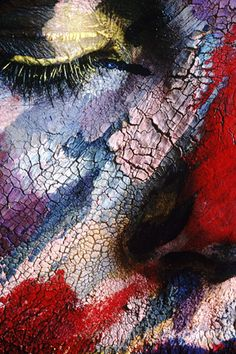 Face Painting n- love the colour & texture.   It reminds me of something seen in nature.