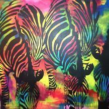 Popart Zebra