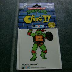"1990 ""Teenage Mutant Hero Turtles/"" RARE Double Sided Window Sticker /""Donatello/"""