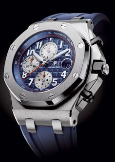 Modelo Royal Oak, da Audemars Piguet, em tom de azul.