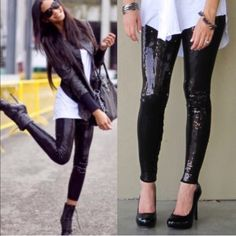 💠NEW💠The BROOKLYN sequin leggings - BLACK 🎉HP 12/22🎉Super fun & which girl isn't head over heels in love with sequins? Perfect to jazz up any outfit. So versatile. Can be worn semi casual or dressed to kill! LIMITED QUANTITIES AVAILABLE. Get yours soon! 🚨‼️NO TRADE‼️ Bellanblue Pants Leggings