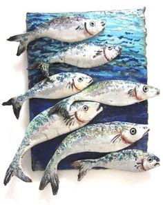 Shoal of Fish || Beautifully unique ceramic art from Diana Tonnison|| Designed…