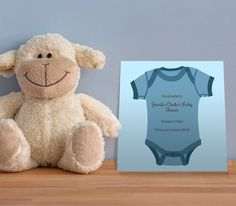 Adorable FREE Baby Shower Invitations, for girl, boy or gender neutral baby showers. We love this baby blue onesie design, available exclusively from Envytations Free Baby Shower Invitations, Online Invitations, Gender Neutral Baby Shower, Baby Online, Baby Showers, Baby Blue, Onesies, Teddy Bear, Design