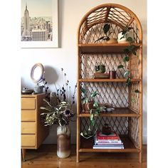 In perfect condition except one mark on top shelf, see pics. Easy to hide. Cane Shelf, Living Room Decor, Bedroom Decor, Interior Design Presentation, Best Home Interior Design, Welcome To My House, House Plants Decor, Bohemian Interior, Baskets On Wall
