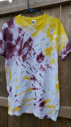 Check out this item in my Etsy shop https://www.etsy.com/listing/196482257/red-yellow-and-blue-tie-dye-shirt