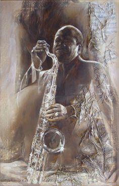 Художница Марина Подгаевская: картина Джаз №5 - холст,масло