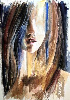 "Saatchi+Online+Artist+Allison+Rathan;+Painting,+""Blind+Streak""+#art"