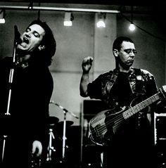 Bono & Adam Clayton / Berlin, December, 1990. Photo: Anton Corbijn