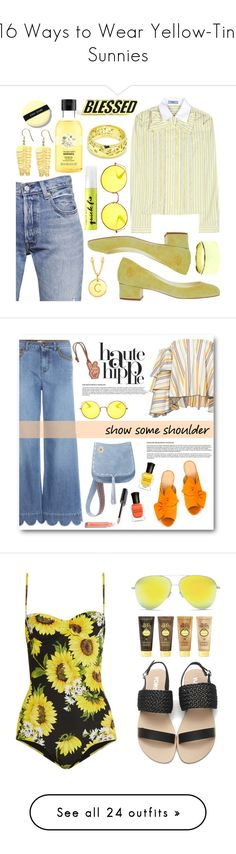 """16 Ways to Wear Yellow-Tint Sunnies"" by polyvore-editorial ❤ liked on Polyvore featuring waystowear, yellowsunglasses, Prada, Levi's, Ray-Ban, Bobbi Brown Cosmetics, PINTRILL, Tiffany & Co., Louis Vuitton and Urban Decay"