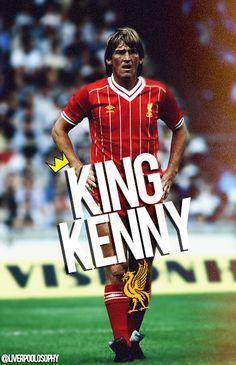 King Kenny #LFC #artwork Liverpool Fc Team, Liverpool Life, Liverpool Legends, Liverpool History, Football Icon, Best Football Team, Sport Football, Beatles, Dundee Fc