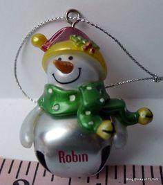 BOB BOB BOBBIN! RED RED #ROBIN Jingle Bell #Snowman