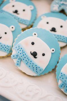 Polar Bear Cookies from a Winter ONEderland Birthday Party via Kara's Party Ideas KarasPartyIdeas.com (24)
