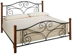 The contemporary look and clean lines of the Doral Bed King Package makes it a great choice for any room. Featuring a smart headboard with arched top and s King Bedding Sets, Luxury Bedding Sets, Comforter Sets, Iron Furniture, Bedroom Furniture, Wrought Iron Beds, Steel Bed, Luxury Bedding Collections, Metal Beds