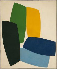 René Roche (1932-1992)  Modules dans l'espace, circa 1977  Acrylique sur toile  220 x 180 cm.