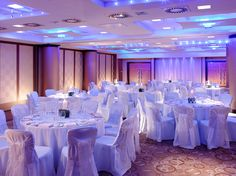 An icy blue and white theme in the Celestial Hall.
