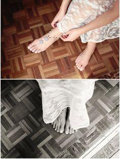Sandalen - Hochzeits barfuß Sandalen, Strand-Hochzeit Schuhe - ein Designerstück von Oniropolis bei DaWanda