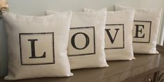 FREE SHIPPING   Set of four 18 x 18 print pillow by FeatherHen, $68.00