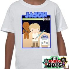Custom Star Wars Birthday Party Shirt  Birthday Party Shirt, birthday custom, diy, party shirt, kids shirt, girls shirt, boys shirt, theme, party, baby, awesome, DIY, shopping, idea, repin, worksaheart, gift, mom, red, blue, pink, name, personalize, shipping