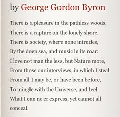 Lord Byron, The Childe Harold. Canto IV, Verse 178