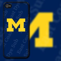 Michigan University Design on iPhone 4 / 4s / 5 / 5s / 5c / 6 Rubber Silicone Case by EastCoastDyeSub on Etsy https://www.etsy.com/listing/154492515/michigan-university-design-on-iphone-4