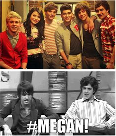 Haha get it, cuz Drake Bell likes 1D- and this is humorous because Carly also playes Meagan, and all Directioners hate that 1D was on iCarly.