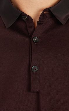 Lanvin Grosgrain-Collar Polo at Barneys.com