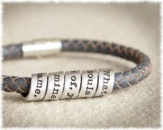 Men's Leather Bracelet - Scroll Bracelet