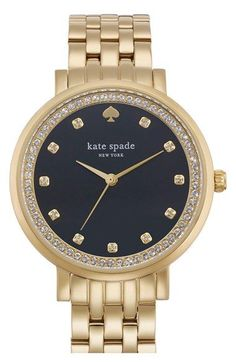 kate spade new york 'monterey' crystal dial bracelet watch, 38mm available at #Nordstrom