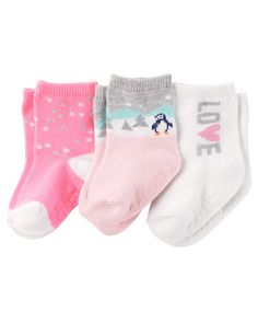 Kid Girl 3-Pack Socks from Carters.com. Shop clothing & accessories from a trusted name in kids, toddlers, and baby clothes.