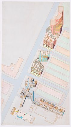 Architecture Sketchbook, Architecture Collage, Architecture Graphics, Classical Architecture, Moma, Cutaway, Old Abandoned Houses, Interior Design Sketches, Rem Koolhaas