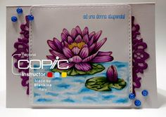 Blankina creations: Tutorial masking 4 stamps Waterlily Copic Italia DT post