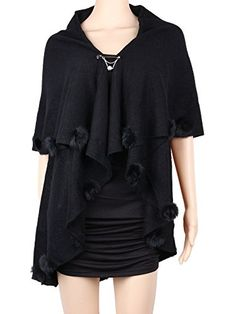 Womens Open Shawl Cardigan Plus Size Gradient Black >>> Click image for more details.