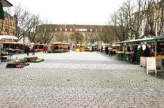 Besuche den Wochenmarkt auf dem Gutenbergplatz (Dienstag, Donnerstag und Samstag)Visit the weekly market at the Gutenbergplatz (Tuesday, Thursday and Saturday)