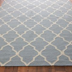 After we get our new floors this Diamond Trellis Dhurrie Rug from shades of light is a must have.