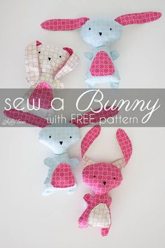 Sew a Bunny - DIY Easter Bunny Tutorial - Free Pattern to sew this cute bunny - would make a great baby gift! - Melly Sews #iloverileyblake #fabricismyfun