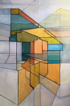 Morning all! We have new work in the gallery courtesy of Dan Broughton – his 'Architectural Abstract' series of paintings are inspired by urban landscapes and architecture. Selected works from this series now available at Cupola Gallery.