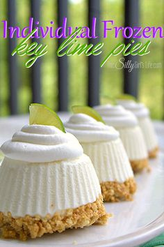 Individual Frozen Key Lime Pies, no bake, easy, tart and sweet like the perfect key lime pie!
