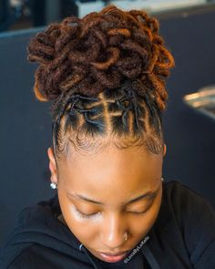 Dreads Styles For Women, Short Dreadlocks Styles, Dreadlock Hairstyles For Men, Dreadlock Styles, Girl Hairstyles, Braided Hairstyles, Curly Hair Styles, Locs Styles, Short Dread Styles