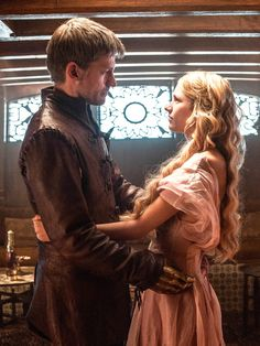Nikolaj Coster-Waldau as Jaime Lannister and Nell Tiger Free as Myrcella Baratheon in Game of Thrones (TV Series, 2015).  A very moving -and sad- moment...