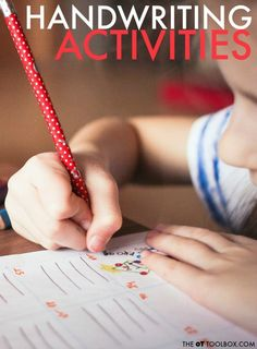 Use these handwriting activities to help kids work on and imporve handwriting legibility with fun ways to work on letter formation, line use, and placement. Handwriting Activities, Handwriting Ideas, Improve Handwriting, Handwriting Practice, Cursive Handwriting, Handwriting Worksheets, Kids Travel Journal, Travel Journals, Craniosacral Therapy