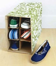 20 Closet Organization Tips & Tricks: DIY shoe rack
