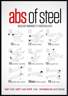 Abs of steel - instead of knee crunches, do twisty ankle touches