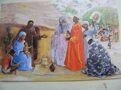 Les Rois Mages - The Three Wise Men (Mt Vie de Jesus Mafa rue du Marechal Joffre - 780000 Versailles, France Epiphany Of The Lord, Sunday Worship, The Birth Of Christ, Three Wise Men, Jesus Art, Biblical Art, Blessed Virgin Mary, My Heritage, Native Art