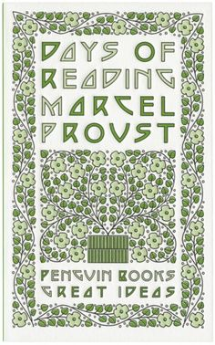 """Book cover for """"Days of Reading"""" by Marcel Proust"""