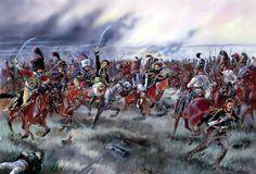 Carica della cavalleria francese a Austerlitz - Courcelles