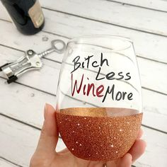 Glitter Stemless Glass-Glitter Dipped Wine by RCVinylDesigns