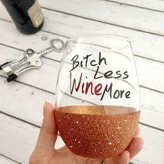 Glitter Stemless Glass-Glitter Dipped Wine by RCVinylDesigns